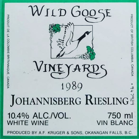 Wild Goose Vineyards original label