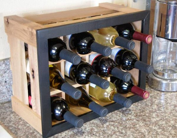 home made wine shelf