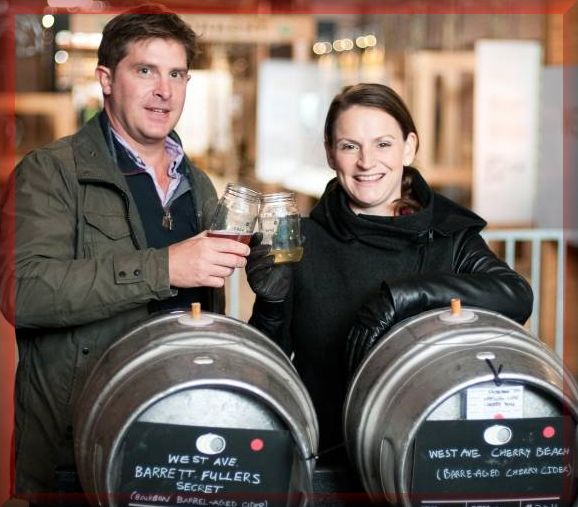 hris Haworth and Amy Robson own West Avenue Cider